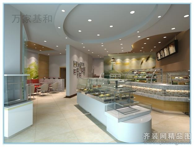 现代简约海象蛋糕店装修效果图图片