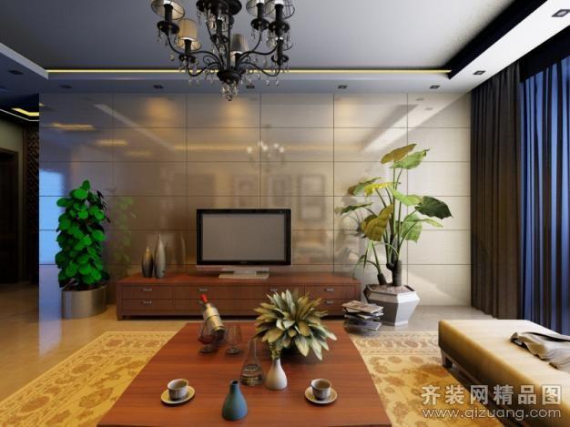 青島森林樹裝飾西海景苑中式風格裝修效果圖