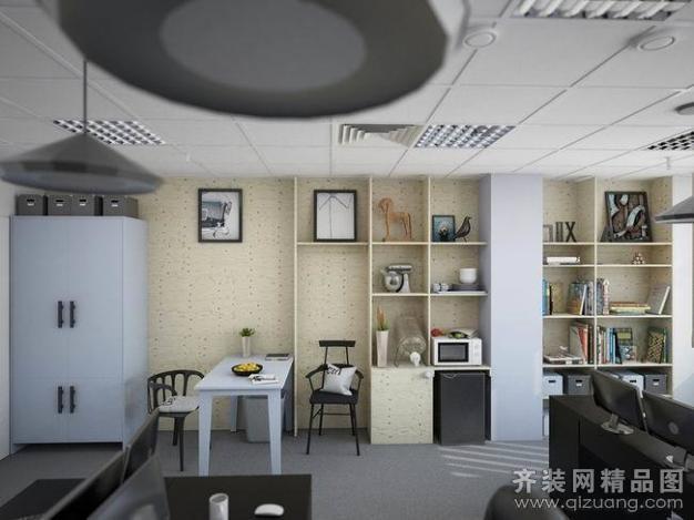 欧派铂晶装饰【时尚办公室现代简约装修效果图图片】装修图片图片