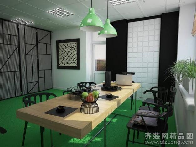 欧派铂晶装饰时尚办公室现代简约装修效果图