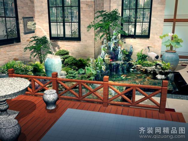 华瑞装饰锦绣庄园别墅景观设计欧式风格装修效果图