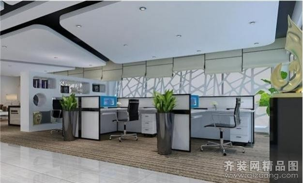 广州域丰装饰金融公司办公室现代简约装修效果图