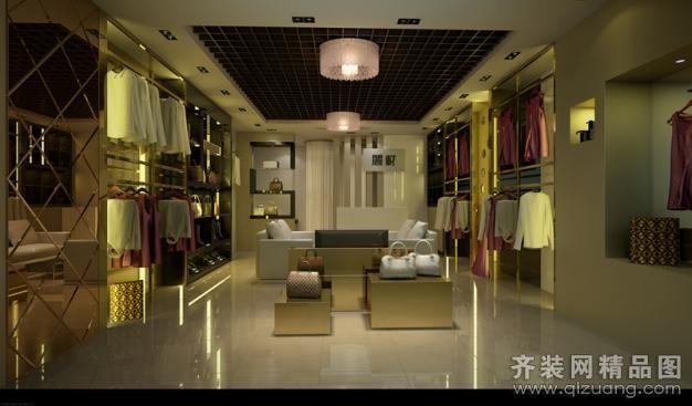 广州丽轩装饰服装店现代简约装修效果图2012