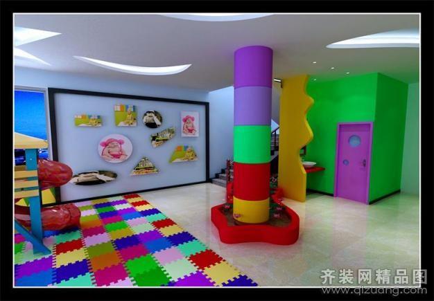 台州宏佳装饰蔡於村幼儿园现代简约装修效果图