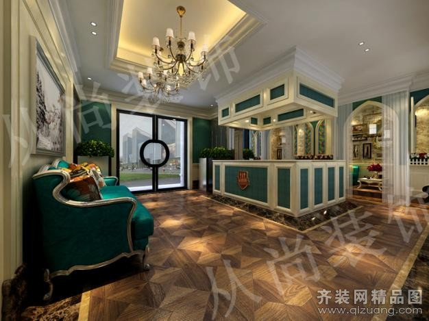 从尚装饰主题餐厅古典风格装修效果图2011