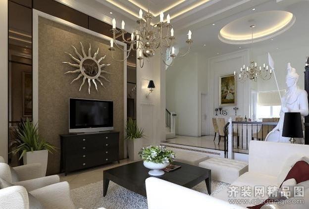 广州域丰装饰自建房欧式风格装修效果图
