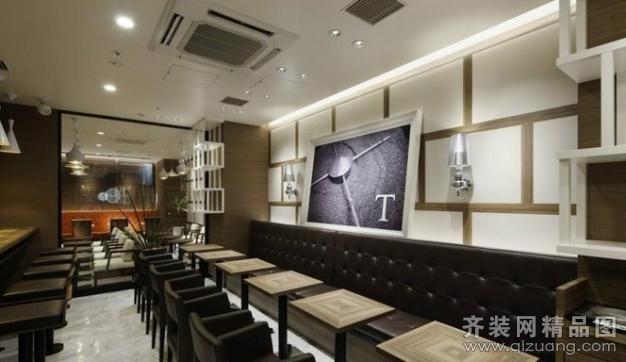 象诚一品装饰休闲咖啡厅现代简约装修效果图2013