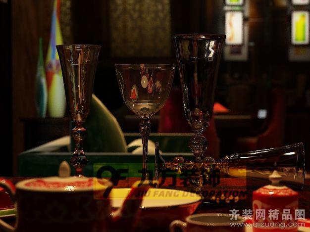 台州九方装饰设计酒吧美式风格装修效果图