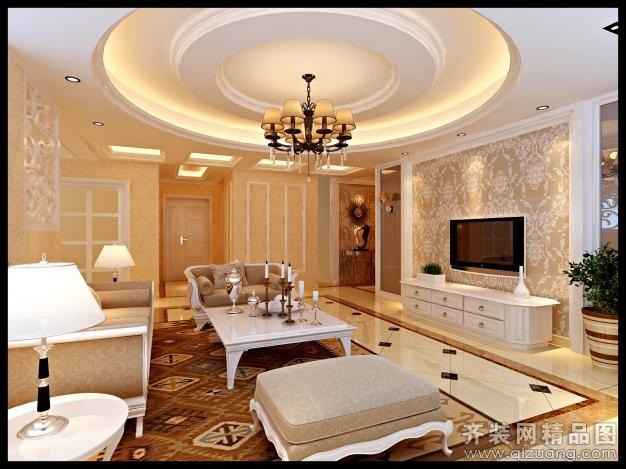 杭州世邦装饰新明半岛欧式风格装修效果图