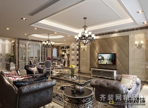 三奇装饰上堡公寓欧式风格装修效果图