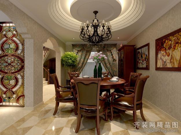 布空间·乙墨设计别墅欧式风格装修效果图2012