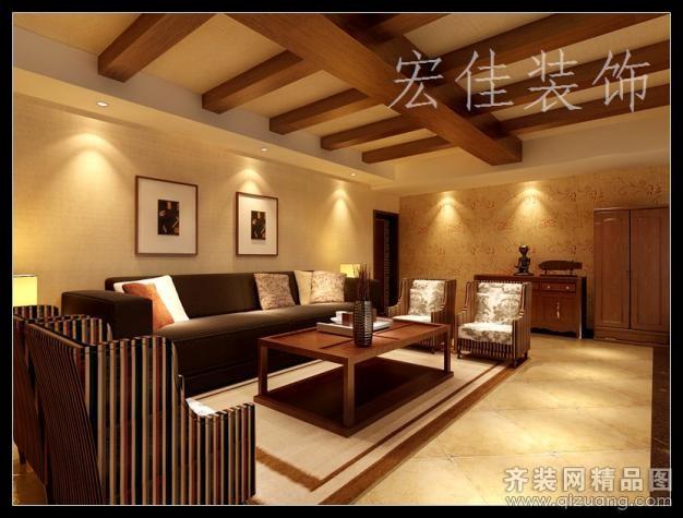 台州宏佳装饰三门总商会棋牌会所美式风格装修效果图