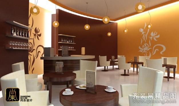 尚东设计咖啡馆现代简约装修效果图2013