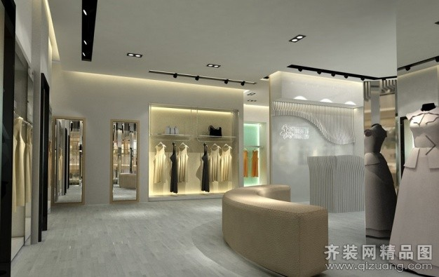 温州旭升装饰服装店现代简约装修效果图