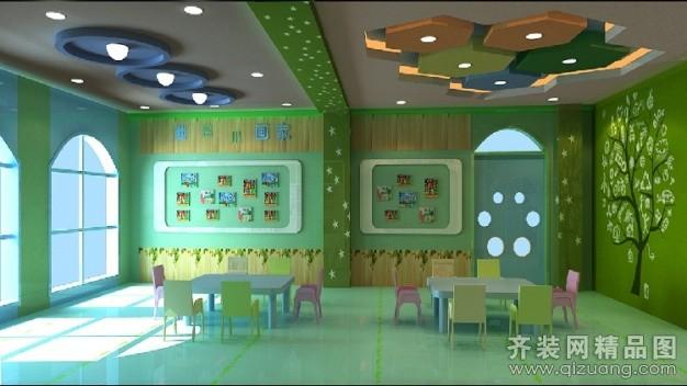 温州旭升装饰幼儿园现代简约装修效果图