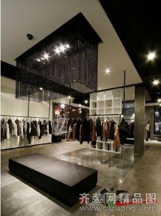 昭成裝飾服裝店現代簡約裝修效果圖2012