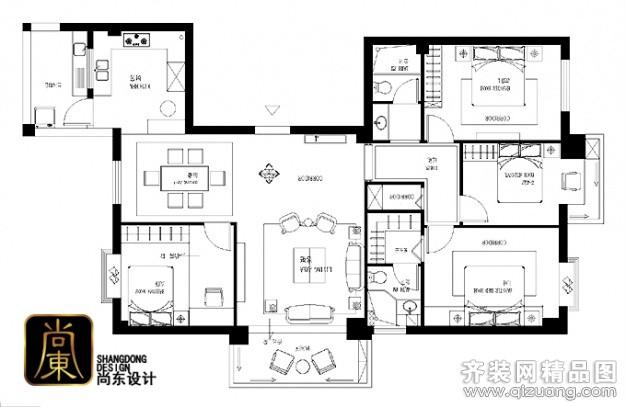 欧式风格新房屋设计结构图