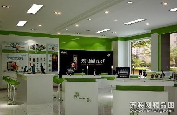 昭成装饰手机卖场现代简约装修效果图2013 商场手机展厅装