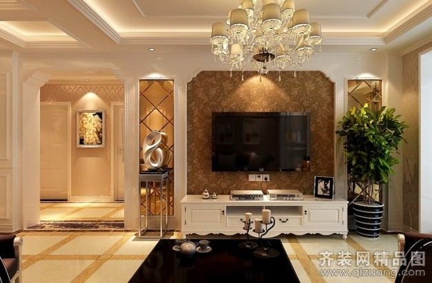 罄雅装饰欧式风格婚房装修现代简约装修效果图