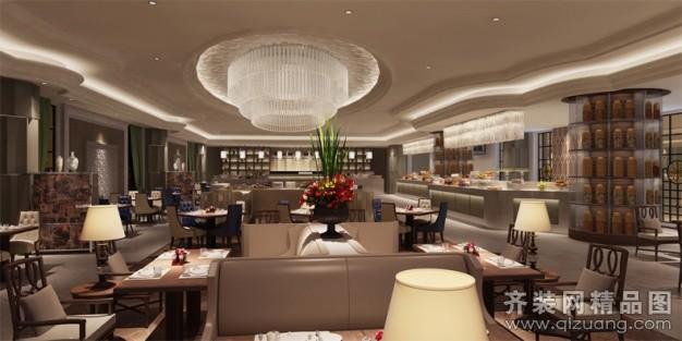 温州旭升装饰西餐厅欧式风格装修效果图