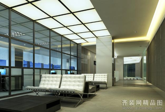 九山裝飾辦公室現代簡約裝修效果圖2013