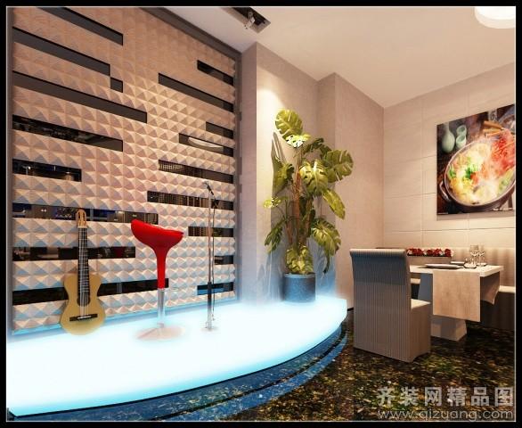 温州旭升装饰音乐主题餐厅现代简约装修效果图