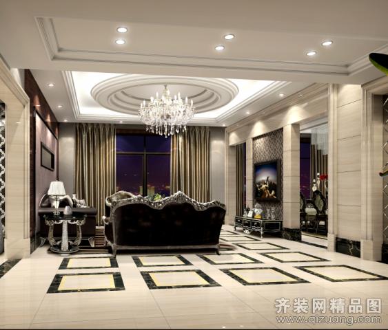 苏州伯乐尼装饰太仓上海公馆欧式风格装修效果图2013
