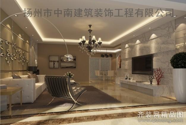 中南裝飾現代簡歐混搭風格裝修效果圖