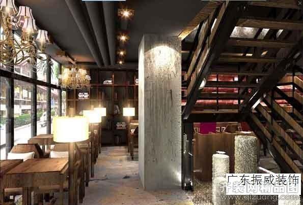 广东振威装饰咖啡馆装修案例田园风格装修效果图