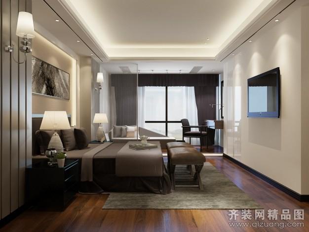 室界装饰主卧现代简约装修效果图