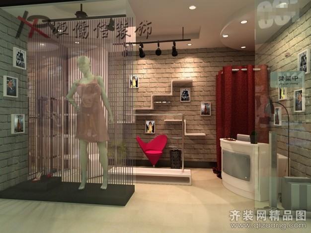 恒儒信装饰个性女装精品店混搭风格装修效果图2012