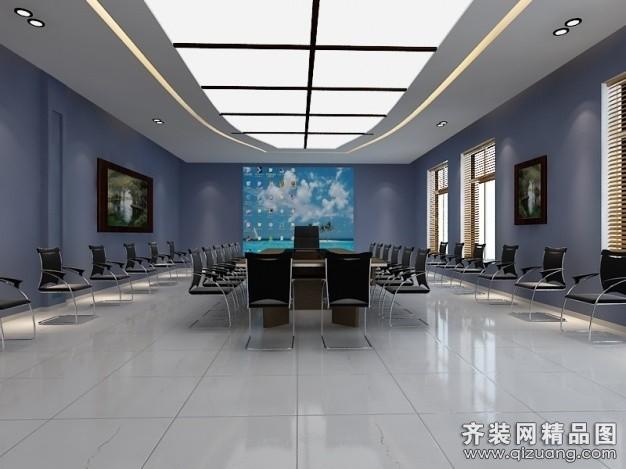 伯乐居装饰会议室现代简约装修效果图