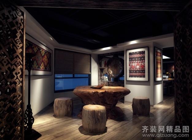 苏州金诺装饰设计公司办公室古典风格装修效果图