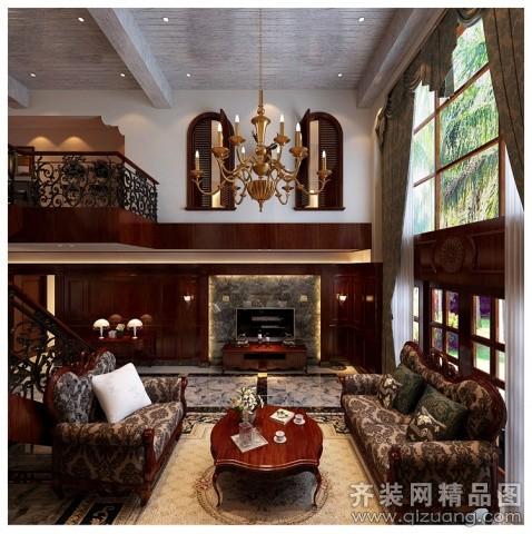 温州旭升装饰美式古典风格美式风格装修效果图