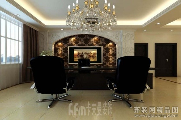 装饰烟台开发区石材办公室欧式风格装修效果图2012