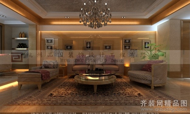 品国装饰皇冠国际公寓欧式风格装修效果图2014
