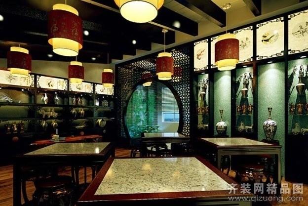 中式风格装修效果图图片】装修图片  楼盘:餐饮店 房屋类型:店面/商铺图片