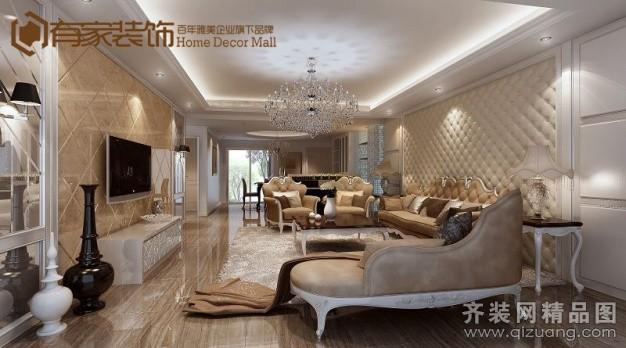 有家装饰中庚城欧式风格装修效果图