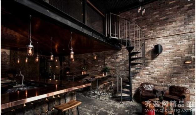 句容三星装饰工业风格酒吧混搭风格装修效果图2011