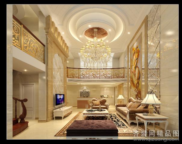 上品装饰别墅客厅欧式风格装修效果图