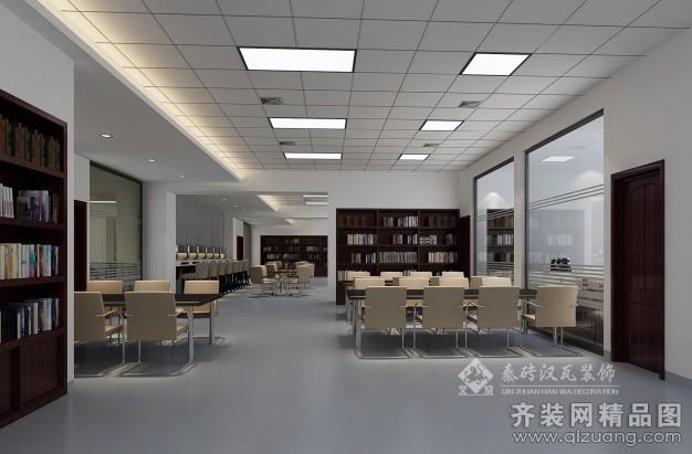 泉州秦砖汉瓦装饰图书馆现代简约装修效果图2014