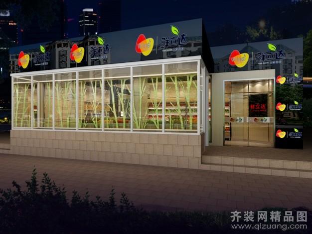 丰凯装饰某水果超市现代简约装修效果图