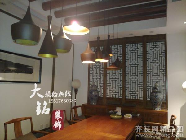 大銘裝飾同慶茶館現代簡約裝修效果圖2014