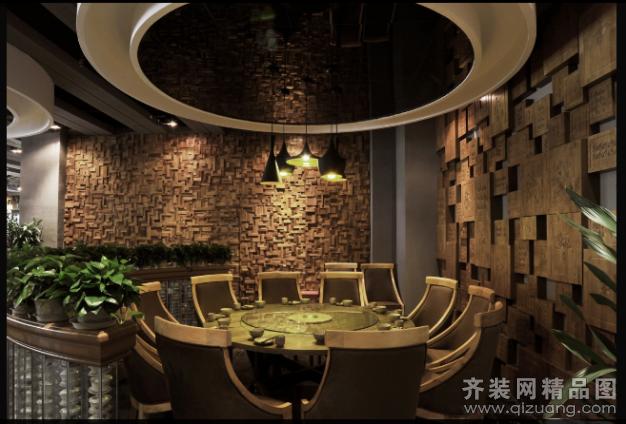 苏州中朗御尚建筑装饰时尚餐厅现代简约装修效果图