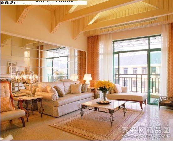 明星客厅五室三厅三卫装修案例效果图 200平米设计