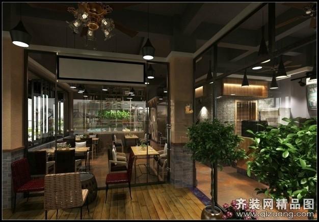 厦门鸿锋装饰咖啡厅现代简约装修效果图