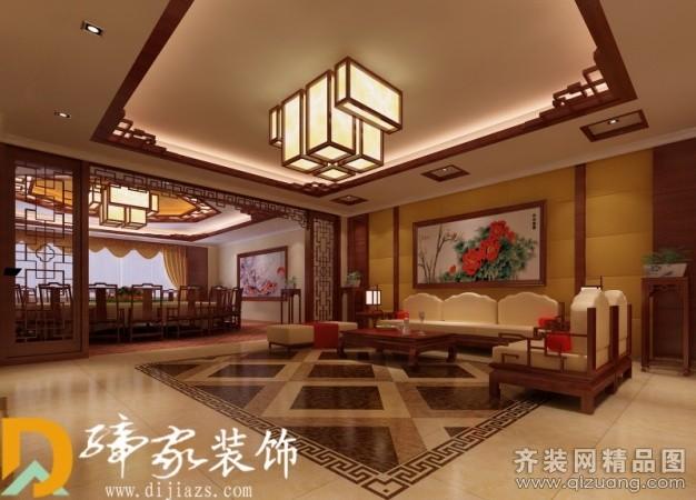 缔家装饰酒店包厢中式风格装修效果图