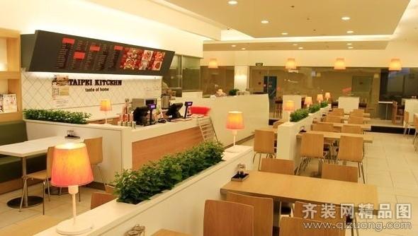 朗特裝飾餐飲店面現代簡約裝修效果圖2013
