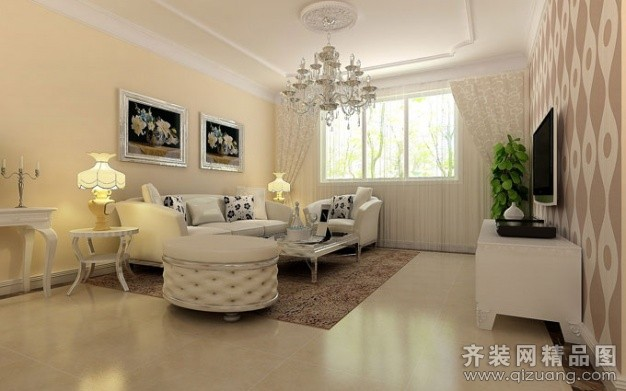 清土168装饰广视花园欧式风格装修效果图2014