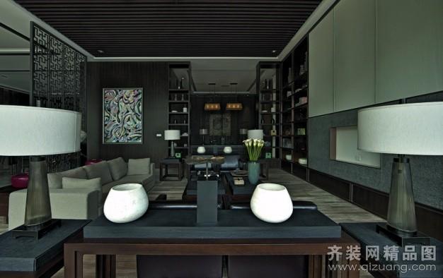如木装饰茶楼中式风格装修效果图